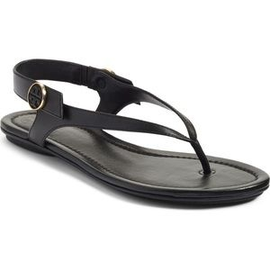 Tory Burch Black Minnie Travel Sandals 9